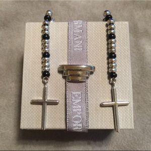 Authentic Emporio Armani silver earrings